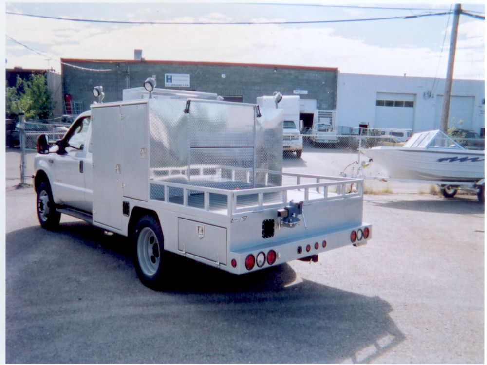 Welding Deck B on Extended Cab Welding Truck